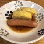 酒饌亭 灘菊 - おでん(だし巻き卵、ソーセージ)
