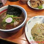 高槻塩元帥 - 濃い口醤油ラーメン \810