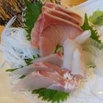 味くらべ - 2018年4月 地魚 3種盛り刺身 950円