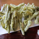 地粉そば処 みのり - わらびの天ぷら