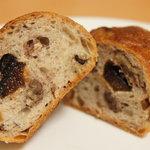 ポワンタージュ - くるみといちじくのパン☆フルーティーないちじく、香ばしいくるみ、小麦の香り豊かなしっかりとした生地♪