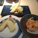 てんぷら元 - 天ぷら2盛&かき揚げ