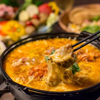京赤地鶏×濃厚チーズタッカルビは必食の逸品!