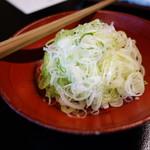 東京 芝 とうふ屋うかい - さらし葱