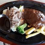 肉の万世  - 黒毛和牛の焼き肉とハンバーグのセット