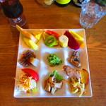 スイジガイ カフェ - 『サラダとフルーツプレート』