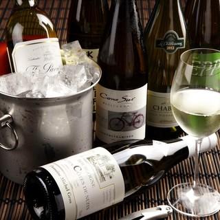 よく冷えた白ワインとしゃぶしゃぶの相性は抜群です。