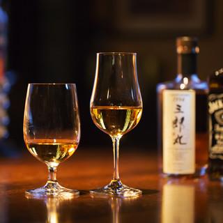 世界5大ウイスキーもご用意。初心者向けにもお勧めです。