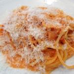 85021975 - サラダが終わってトマトスパゲティ
