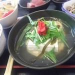 85028439 - 鶏ハンバーグ京風スープ仕立て南高梅の香