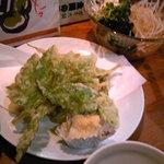 居酒屋 ガキ大将 - あしたばの天ぷら。おいしかったなぁ。