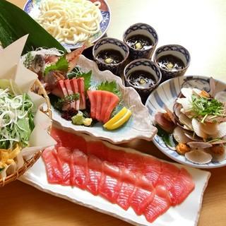 鮮度抜群の魚介を堪能するコースもご用意!