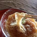蕎遊庵 - さらしな生一本 冷汁 やまいも添え(850円税込)