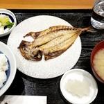諸国 ひものと - 鯵干物定食:680円