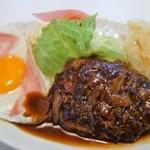 おかだ食堂 - 料理写真:ハンバーグ(300円)