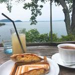 シャーレ水ヶ浜 - ホットサンドとグレープフルーツジュース