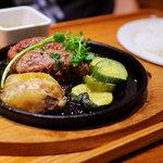 いしがまや ハンバーグ - ハンバーグステーキ(1380円)レギュラーセット