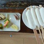 8505371 - 五平餅と山菜漬物