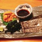 一品料理 ひとしな - 生ウニの海苔巻き
