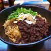 汁なし担々麺 階杉 - 料理写真:汁なし坦坦麺2玉3辛タレ半分+麺増し1玉+ガーリックチップ