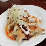 麺道楽紋次郎 - ネギ餃子