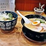 こだわりらーめん若虎 - チャーシュー丼セット(こってりラーメンと炙りチャーシュー丼)