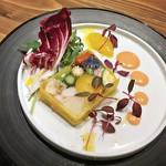 ビストロ お野菜と. - 彩り野菜とズワイ蟹のテリーヌ(900円)