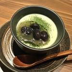 ビストロ お野菜と. - 抹茶香るプリン(450円)