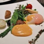 アマデウス - ベネディクト風の野菜グリル(メイン)