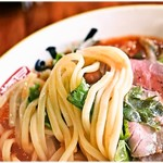 麺昇 神の手 - パスタみたいな麺。