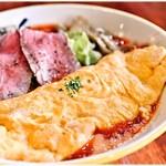 麺昇 神の手 - オムラーメン 900円 トマトスープとオムレツがベストフィット♪