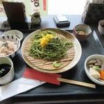 八女茶寮 - 料理写真:茶そばセット1100円の出来あがりです。