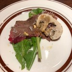 ステーキ倶楽部 BECO - 黒毛和種の太田牛ラムシン仕様のカルパッチョ