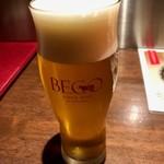 ステーキ倶楽部 BECO - 生ビール