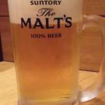85065001 - ~20時までのお得な晩酌セット680円から 生ビールはモルツ通常500円
