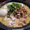 麺家 九十九 - 料理写真:魚だし背油味噌(800円)+半熟味玉(100円)