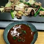 85067041 - ホルモンとビチカブ(ギアラ)+野菜