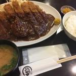 とんかつひろ喜 - 特選ロースとんかつ定食 特大(¥1050)