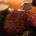 洋食の店 もなみ - C コーンポタージュ・ハンバーグ(120g)・チキンカツレツ(100g)