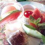 8507103 - 秀逸なデザート、果物は甘く、西瓜シャーベットが絶品