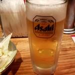 Aburidoribarichou - 生ビール:300円(ハッピーアワー)