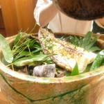 Akasaka Kikunoi - 鉢肴 大原野産筍焼き 山椒オイル