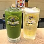 立呑み晩杯屋 - がぶ飲みシードル ¥290 / 緑茶割り ¥290