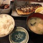 味の正福 - 日替わり定食918円(さば塩焼き)