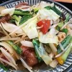 揚葉 - 豚ヒレ肉と色々野菜炒め