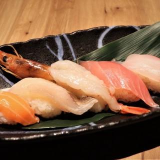 職人の握る、山陰地魚のにぎり寿司