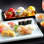 シェラトン都ホテル大阪 日本料理 うえまち - 寿司盛り合わせ(松)