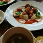 三笠 - ランチ酢豚セット
