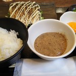 六角箸 - 炙りシメサバ定食800円税込に自然薯を別料金200円税込