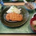 楽庵 - とんかつ定食(税込1,058円))                                                 、058円)